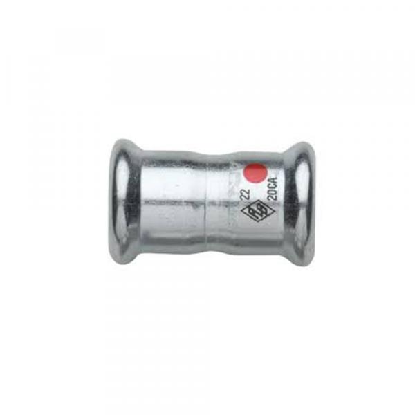 Manicotto a pressare in acciaio inox - Raccorderia a pressare | Hot & Cold