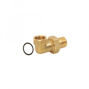 Gomito m/f in ottone con bocchettone - Raccordi zincati | Hot & Cold