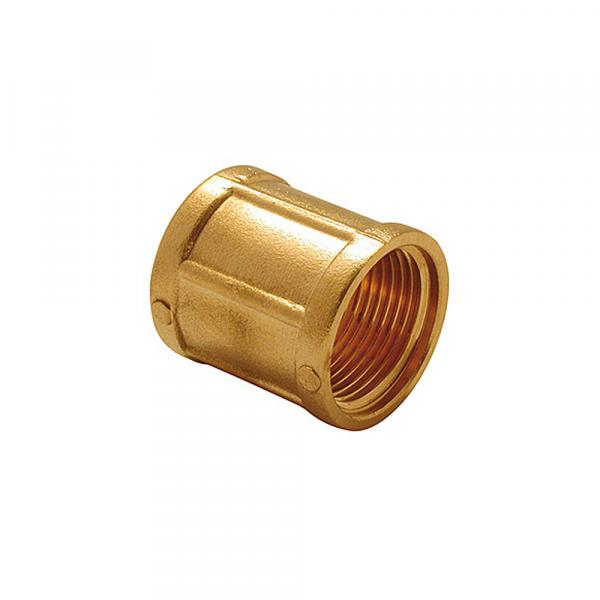 Manicotto f/f in ottone - Raccordi zincati   Hot & Cold