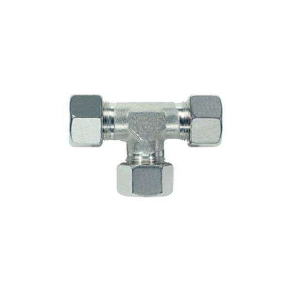 Tee a compressione in acciaio inox - Raccordi a compressione INOX